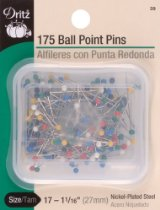 Dritz Ball Point Glasshead pins