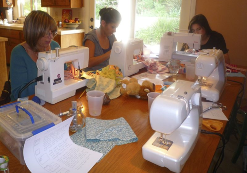 Celebrate Earth Day with a sewing party in your home that focuses on recycling.  The Lost Apron