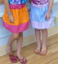 Color Block Skirt --- The Lost Apron