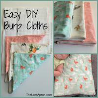 Easy DIY Burp Cloths - The Lost Apron
