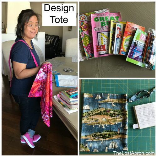 This Easy DIY Activity Tote is perfect for children to have some activity essentials on-the-go. This is a project that your children can learn about designing and learn to sew for themselves. -- The Lost Apron
