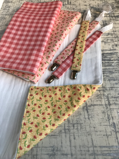 Pacifier clip materials.  The Lost Apron