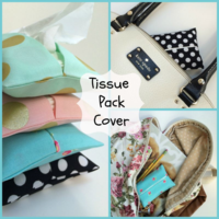 Tissue Pack Cover. This is part of a series in Teaching Children to Sew.  This is a way to teach your child to sew (even if you don't know how.)- The Lost Apron