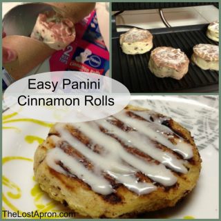 Easy Panini Cinnamon Rolls