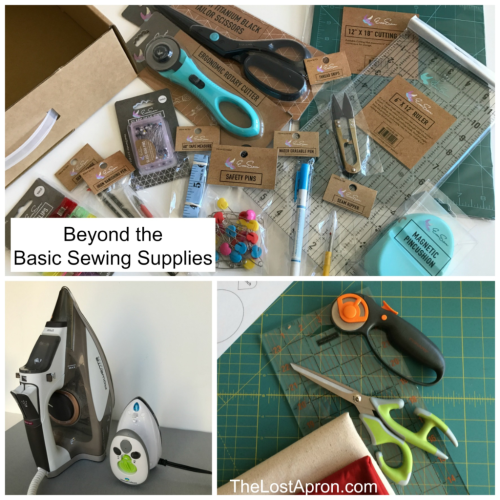 Beyond the Basic Sewing Supplies-- The Lost Apron